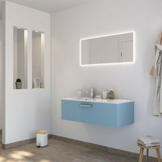 Meuble de salle de bains de 100 119 bleu neo line - Meuble d angle salle de bain leroy merlin ...