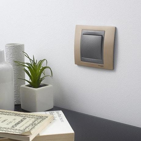 Interrupteurs et prises SCHNEIDER ELECTRIC,série Unicatop brun / marron