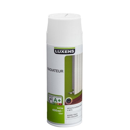 Peinture aérosol satin LUXENS, blanc blanc n°0, 0.4 l