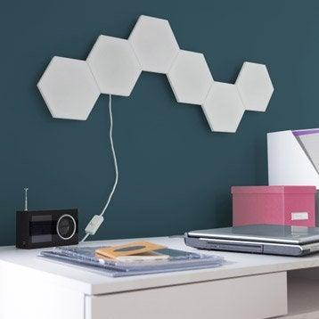 Kit panneau LED décoratif Puzzle, 1 x 2.9 W, plastique blanc, INSPIRE