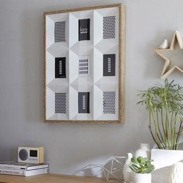 Cadre Multivues 3d 9 vues, 10 x 15 cm, chêne clair