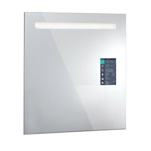 Miroir connecté lumineux avec éclairage intégré l 60 x h 75 cm miralite