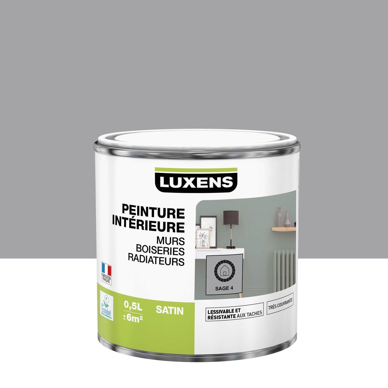 Peinture mur, boiserie, radiateur Multisupports LUXENS, sage 4, 0.5 l, satin
