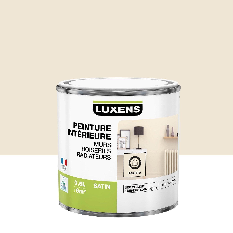 Peinture mur, boiserie, radiateur Multisupports LUXENS, paper 2, 0.5 l, satin