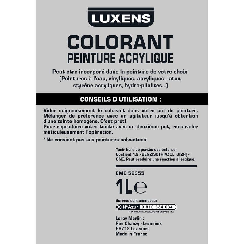 Colorant Spécial Peinture Acrylique Luxens 1000 Ml Beige Leroy Merlin