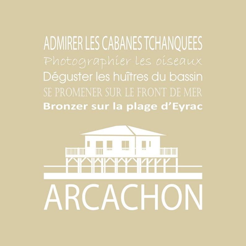 Toile Imprimée Arcachon Beige Vison Artis L30 X H30 Cm