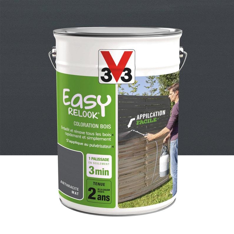 Protection V33 Easy Relook Bois 5 L Anthracite