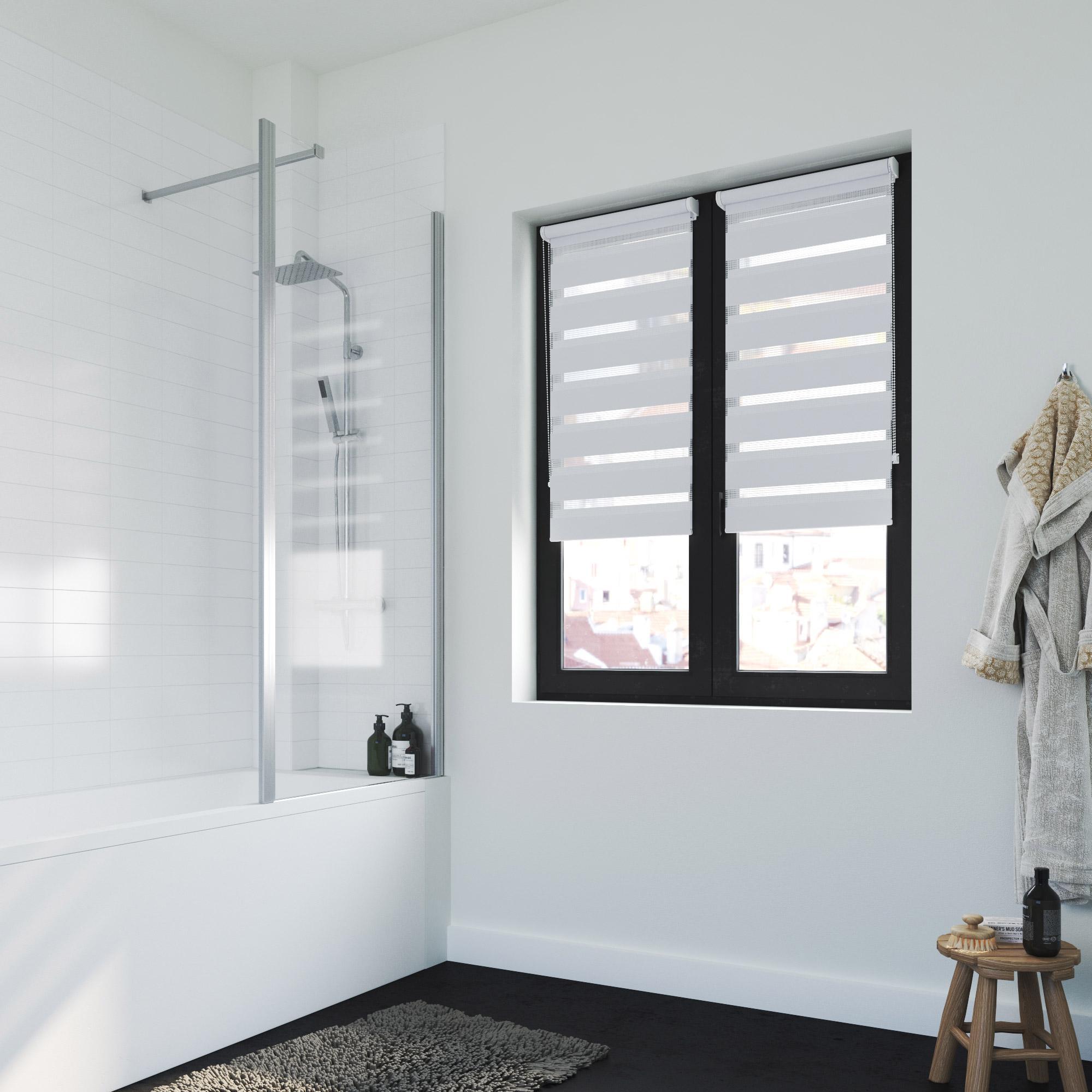 NATURALS Store Translucide Blanc 100 x 250 cm Tissu