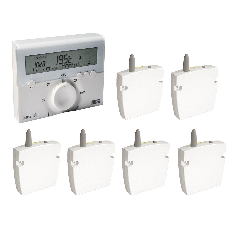 programmateur radiateur lectrique sans fil delta dore deltia 6 r cep leroy merlin. Black Bedroom Furniture Sets. Home Design Ideas
