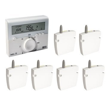 Programmateur radiateur électrique sans fil DELTA DORE Deltia 8.36 + 6 récep