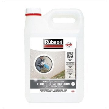 Peinture étanche Stop infiltration injection, RUBSON blanc 5 l