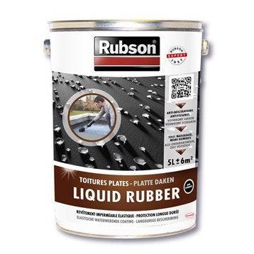 Revêtement d'étanchéité Stop fuite toiture plate, RUBSON noir 5 l