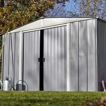 Abri métal Lm 106 + kit ancrage, 5.04 m² Ep.0.22 mm