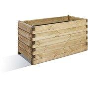 Bac bois BURGER, L.180 cm x l.50 cm x H.50 cm, naturel
