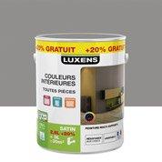 Peinture multisupports LUXENS, gris galet n°3 satin, 2.5L+20%
