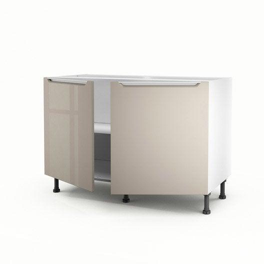 meuble de cuisine sous vier taupe 2 portes milano x. Black Bedroom Furniture Sets. Home Design Ideas