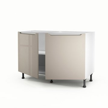 meuble de cuisine taupe delinia milano leroy merlin. Black Bedroom Furniture Sets. Home Design Ideas
