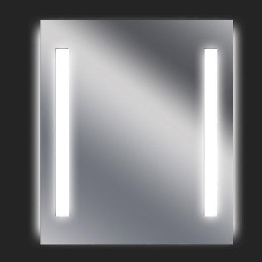 Miroir lumineux eclairage int gr x cm sensea for Miroir lumineux leroy merlin
