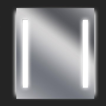 Miroir lumineux eclairage intégré, l.60 x H.70 cm, SENSEA Ayo