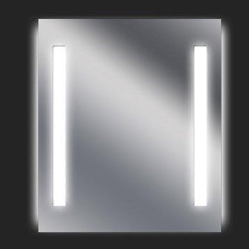 Miroir lumineux avec éclairage intégré, l.60 x H.70 cm Ayo