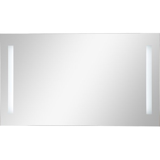Miroir de salle de bains accessoires et miroirs de salle for Miroir lumineux 90 cm