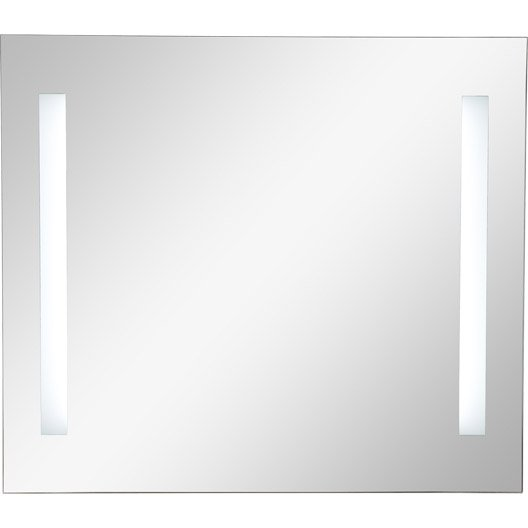 Miroir lumineux eclairage int gr x cm sensea for Miroir salon leroy merlin