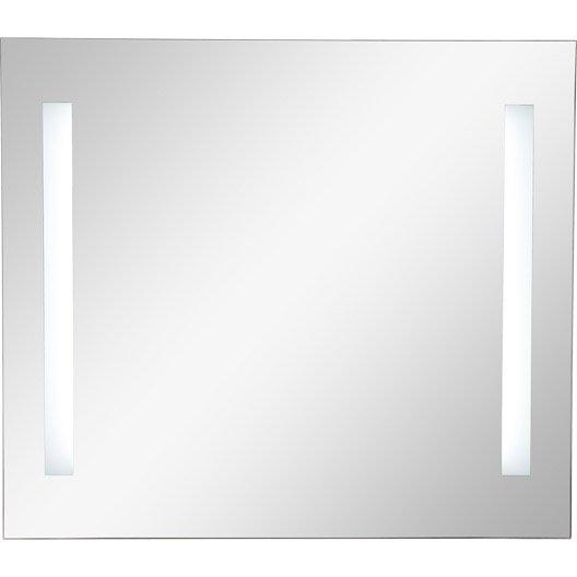 Miroir lumineux eclairage int gr x cm sensea ayo leroy merlin Miroir salle de bain lumineux