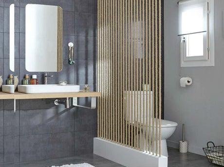 Comment r aliser une cloison en cordes leroy merlin - Paravent salle de bain ...