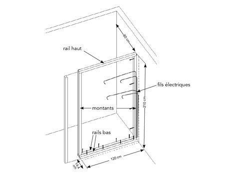 Comment monter une cloison multifonction dans la salle de for Construire une cloison amovible