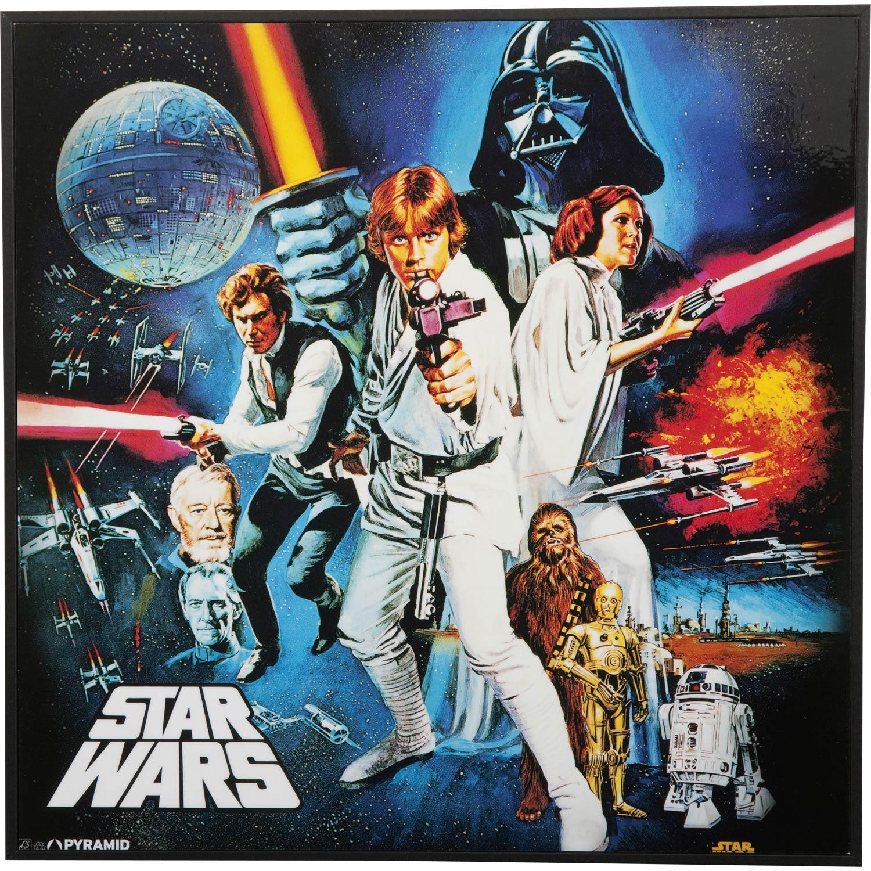 Affiche Contre Collee Star Wars Retour Du Jedi L 30 X H 30 Cm