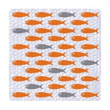 Tapis antidérapant transparent pour douche, Luna fish