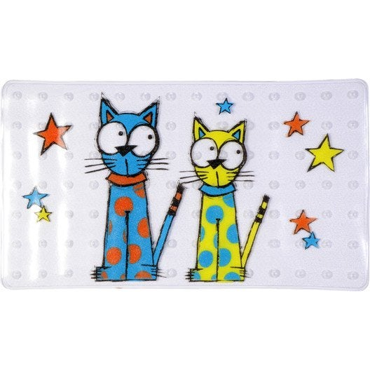 Tapis antid rapant transparent pour baignoire chat for Produit pour nettoyer les tapis