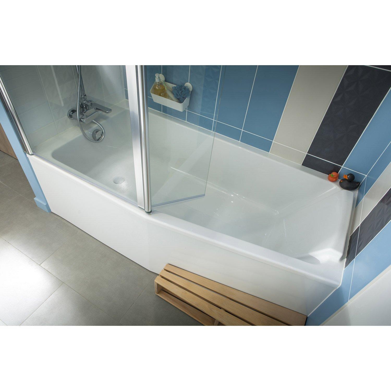 Salle De Bain En Longueur Douche Et Baignoire ~ baignoire l 160x l 85 cm jacob delafon sofa bain et douche vidage