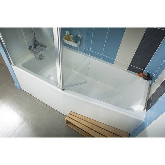 Baignoire porte baignoire douche salle de bains for Baignoire a porte leroy merlin