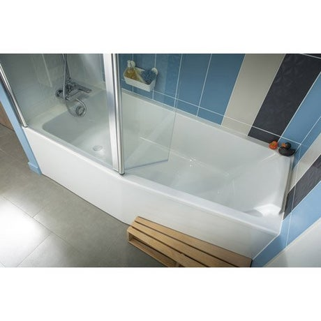Baignoire porte baignoire douche salle de bains for Baignoire asymetrique 150