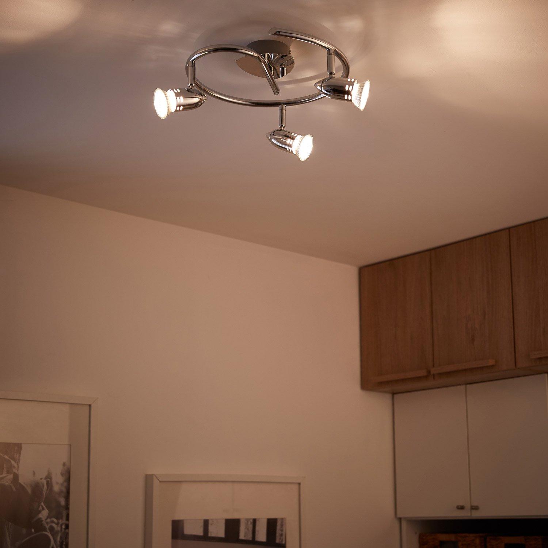 plafonnier 3 spots design bomber 3 xgu10 chrome inspire. Black Bedroom Furniture Sets. Home Design Ideas