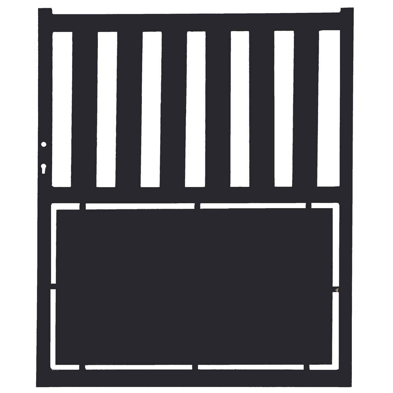 portillon battant millau x cm anthracite leroy merlin. Black Bedroom Furniture Sets. Home Design Ideas