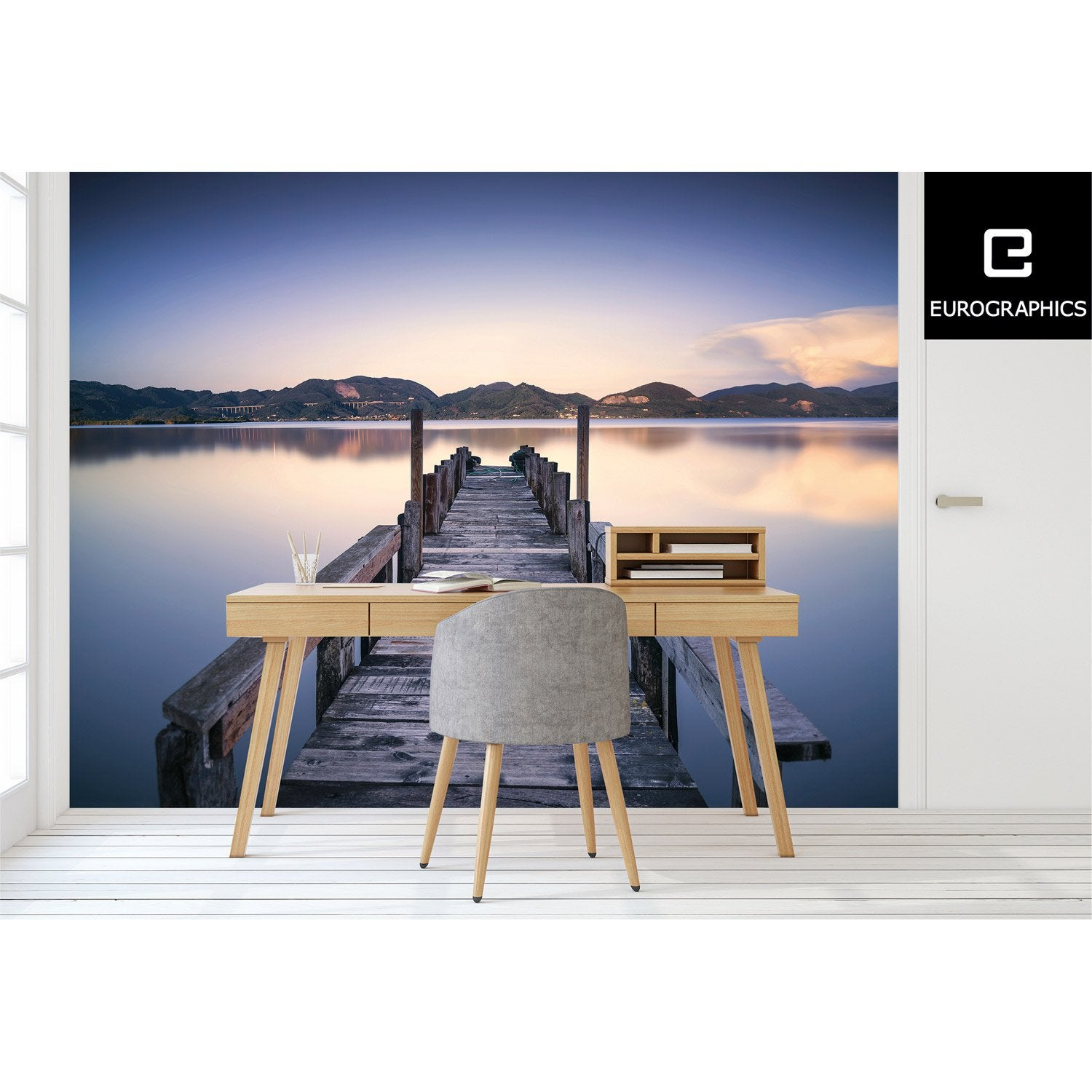 poster xxl de mur ponton deco wall x cm leroy merlin. Black Bedroom Furniture Sets. Home Design Ideas