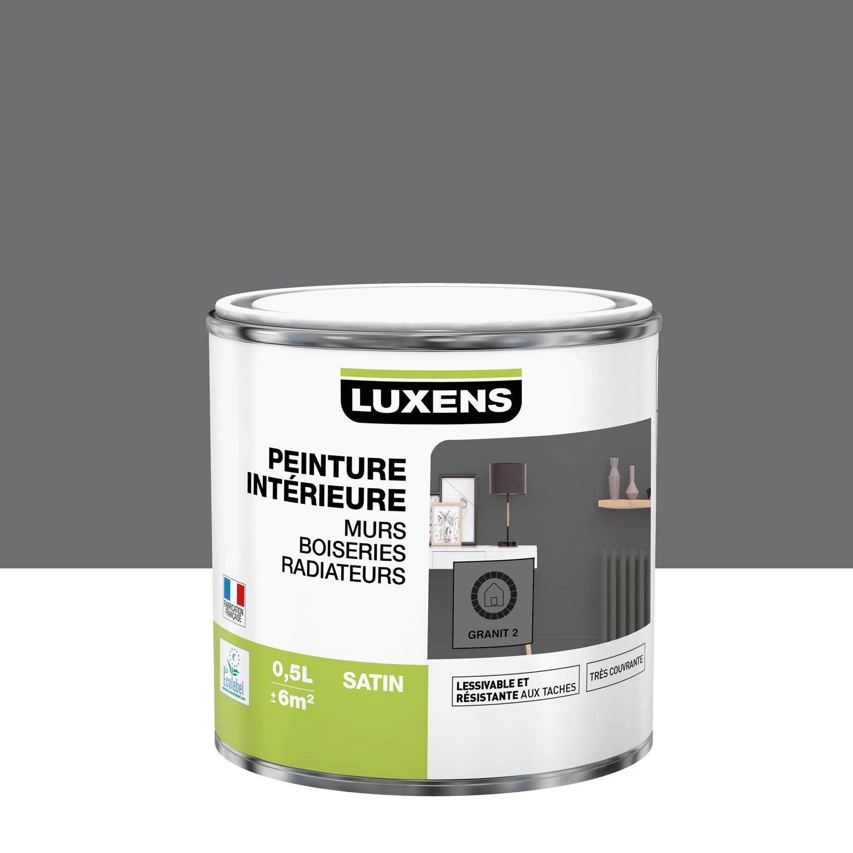 Peinture mur, boiserie, radiateur intérieur Multisupports LUXENS, granit 2, sati