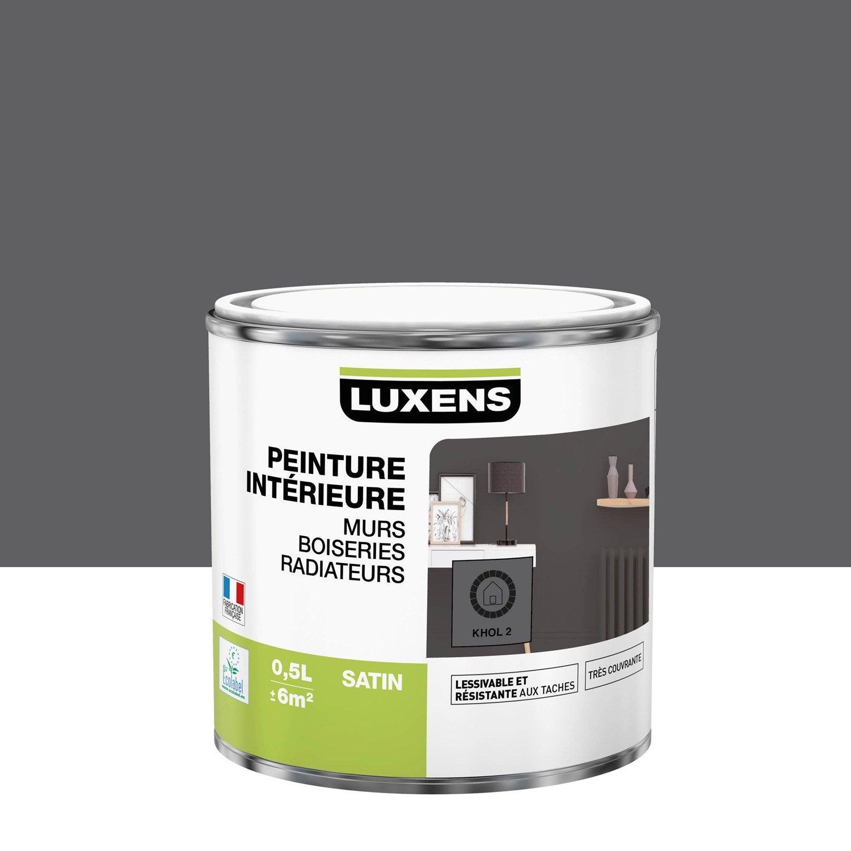Peinture mur, boiserie, radiateur intérieur Multisupports LUXENS, khol 2, satin,