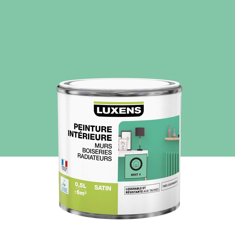 Peinture mint 4 satin LUXENS 0.5 l