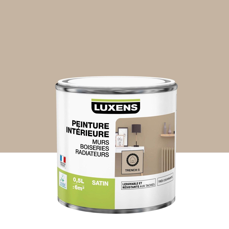 Peinture mur, boiserie, radiateur LUXENS, trench 5 0.5 l, satin