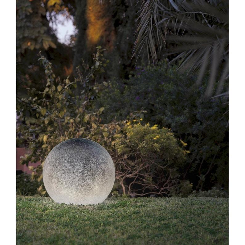 Boule décorative extérieure Buly granito E27 25 W = 603 Lm, transparent  NEWGARDE