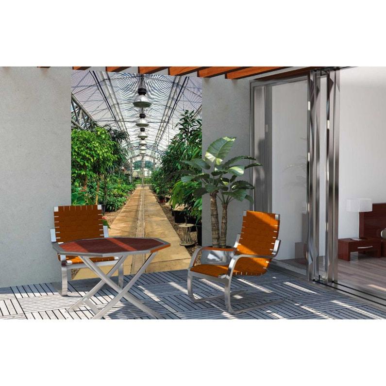 Toile brise-vue pvc SCENOLIA Jardin clim 100%, H.2.4 m x L.1.5 m