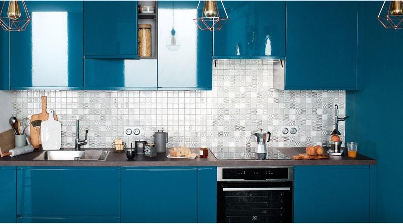 Plinthe De Cuisine Bleu Paon Delinia Id H 9 8 X L 2 4 M X Ep 18 Mm