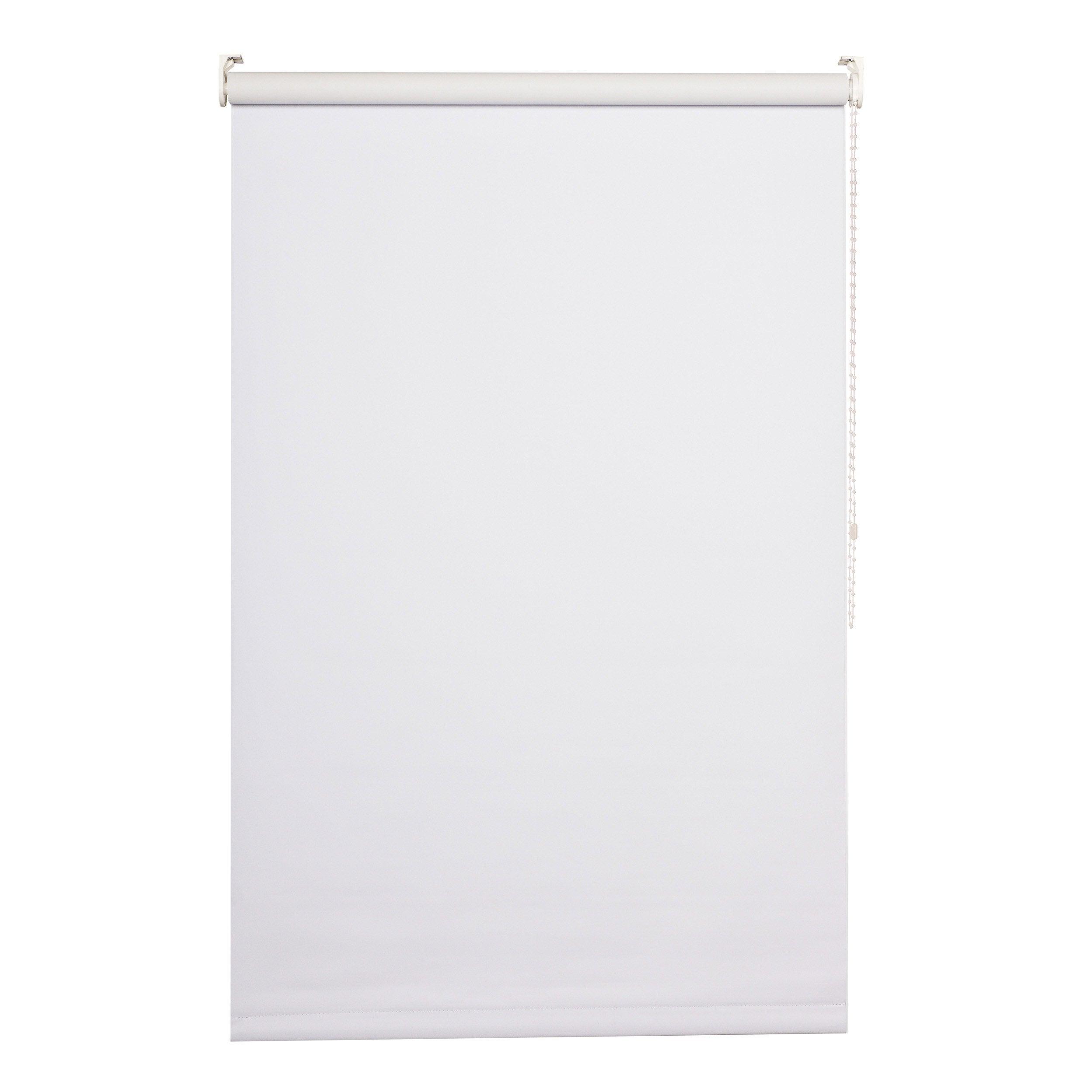 Store enrouleur occultant, blanc Séoul, l.45 x H.160 cm