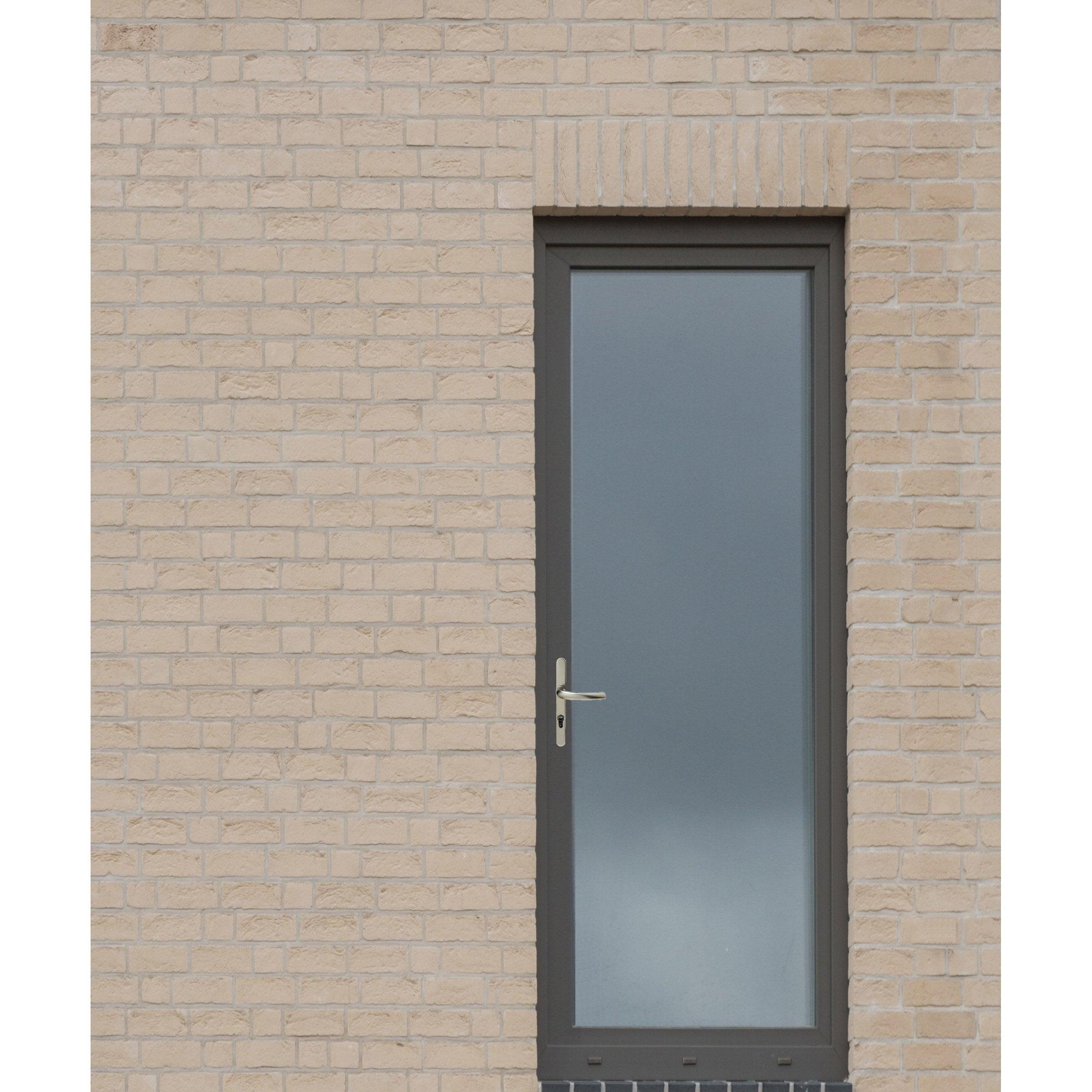 Peindre Fenetre Pvc En Gris porte-fenêtre pvc h215 x l90 cm, gris anthracite / blanc, 1 tirant gauche