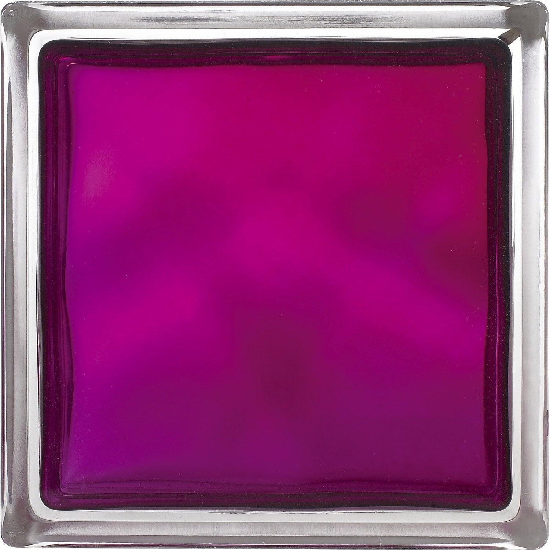 Brique De Verre Violet Ondul Brillant Leroy Merlin # Etagere Verre Et Brique