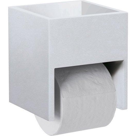Rangement papier toilette x x cm blanc nath o leroy merlin for Rangement papier toilette original