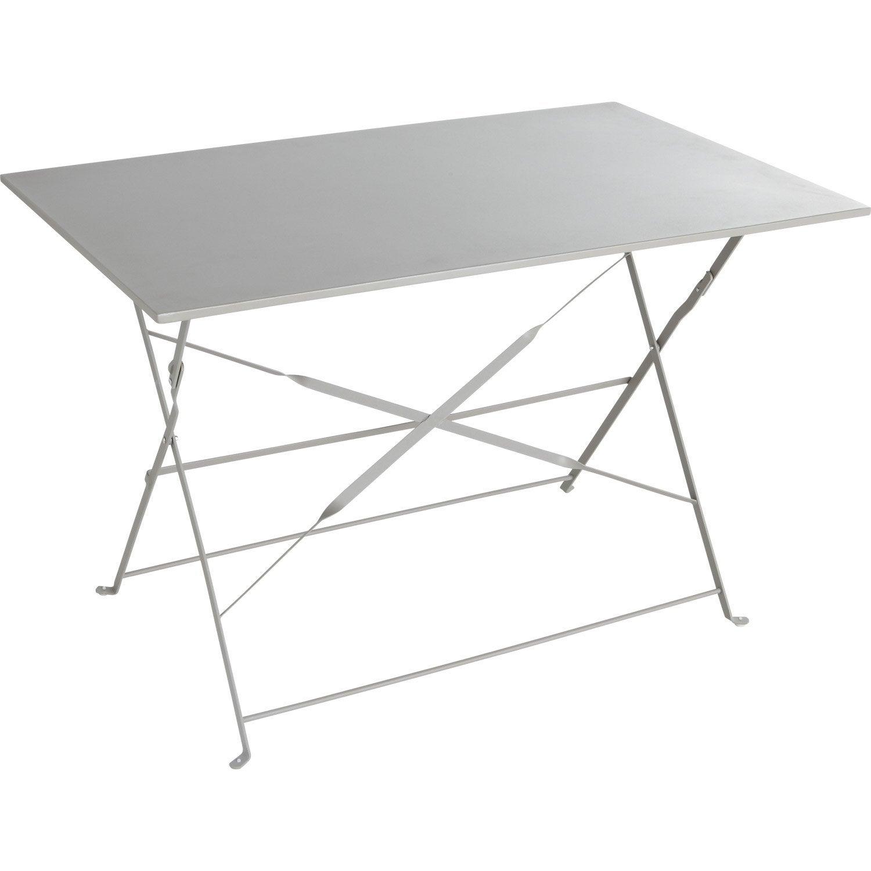table de jardin naterial flore rectangulaire gris 4 personnes - Table Pliante De Jardin